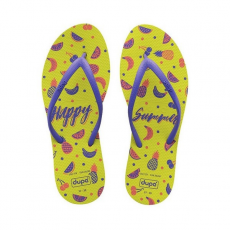 Dupé Női flip flops Happy Summer Dupé Joy Sárga