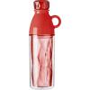 Duplafalú palack, műanyag, piros