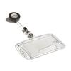 DURABLE Azonosítókártya tartó, kihúzható, akril, zárt,