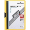 DURABLE Klippmappa -2200/04- 30 lapig sárga Duraclip DURABLE