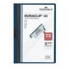 DURABLE Klippmappa -2200-07- 30 lapig sötétkék Duraclip DURABLE