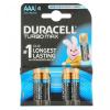 Duracell Turbo max LR3/4 db tartós AAA microelem