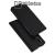 DUX DUCIS slim design notesz / mappa tok - FEKETE - oldalra nyíló flip cover, asztali tartó funkció, szilikon belső, mágneses záródás - HUAWEI P30 - GYÁRI