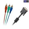 DVI (24+5 tűs) -> 3x RCA kábel 3m