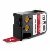 Dymo 1868763, 24mm x 7m, fehér nyomtatás / piros alapon, eredeti szalag