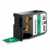 Dymo 1868783, 24mm x 7m, fehér nyomtatás / zöld alapon, eredeti szalag