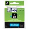 Dymo D1 40914, S0720700, 9mm x 7m, kék nyomtatás / fehér alapon, eredeti szalag