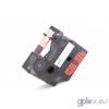 DYMO ID1 18438 12mm * 7m piros alapon fekete vinyl utángyártott ipari feliratozószalag kazetta