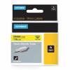 Dymo Rhino 1805444, 24mm x 1,5m, fekete nyomtatás / sárga alapon, eredeti szalag