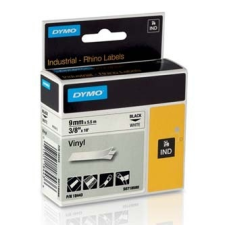 Dymo Rhino 18443, S0718580, 9mm x 5.5m fekete nyomtatás / fehér alapon, eredeti szalag nyomtató kellék