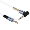 E008WH jack kábel 3,5mm sztereó dugó-dugó 90fokos.