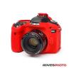 EasyCover Canon szilikon tok 80D piros