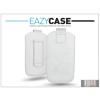 Eazy Case DECO SLIM univerzális bőrtok - LG P920 Optimus 3D/Sony Xperia Z1 Compact/Samsung G3500 - fehér - 14. méret