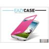 Eazy Case Samsung i9500 Galaxy S4 S View Cover flipes hátlap on/off funkcióval - EF-CI950BPEGWW utángyártott - pink