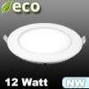 ECO LED panel (kör alakú) 12 Watt - természetes fehér fényű