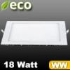 ECO LED panel (négyzet alakú) 18 Watt - meleg fehér fényű
