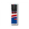 """EDDING Alkoholos marker készlet, OHP, 0,6 mm, EDDING """"141 F"""", 4 különbözo szín (4 db)"""