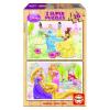 Educa Disney Hercegnők fa puzzle, 2x16 darabos