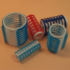 EF-ES pattintós műanyag hajcsavaró, 30 mm, 6 db
