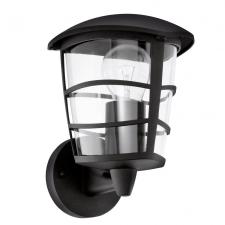 EGLO 93097 ALORIA kültéri fali lámpa, fekete színben, MAX 1X60W teljesítménnyel, E27-es foglalattal, kapcsoló nélkül, IP44 védettséggel ( EGLO 93097 ) kültéri világítás