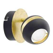 EGLO 95482 NOCITO beltéri spot lámpa, fekete, arany színben, MAX 1X3,3W teljesítménnyel, GU10 foglalattal, kapcsoló nélkül, IP20 védettséggel ( EGLO 95482 ) világítás