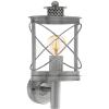 EGLO Kültéri fali lámpa E27 1X60W IP44 antik ezüst - Hilburn1 EGLO