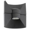 EGLO Kültéri LED fali 2x2,5W 360lm 16*17,5*12,5cm alumínium öntvény antracit IP44 Redondo