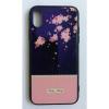 egyéb BH647 Telefon tok BLU-RAY Üveg Part Pink Flower Iphone X