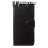egyéb CRAZY notesz tok / flip tok - FEKETE - asztali tartó funkciós, oldalra nyíló, rejtett mágneses záródás, bankkártya tartó zsebekkel, szilikon belső - SAMSUNG Galaxy A8 Star