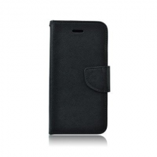 egyéb Fancy Samsung Galaxy A41 oldalra nyíló mágneses könyv tok szilikon belsővel fekete tok és táska