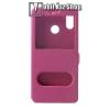 egyéb Notesz / flip tok - RÓZSASZÍN - oldalra nyíló ablakos flip cover, asztali tartó funkció, mágneses záródás, hívásfelvétel - HUAWEI nova 3i / HUAWEI P Smart+