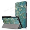 egyéb Notesz / mappa tok - oldalra nyíló flip cover, TRIFOLD asztali tartó funkció, mágneses záródás - VIRÁGZÓ FA MINTÁS - HUAWEI MediaPad T3 7.0