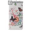 egyéb Notesz / mappa tok - VIRÁG / LEPKE MINTÁS - oldalra nyíló, rejtett mágneses záródás, belső zseb, asztali tartó funkció, szilikon belső - Xiaomi Mi 8