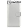 egyéb Notesz tok / flip tok - EZÜST - asztali tartó funkciós, oldalra nyíló, rejtett mágneses záródás, bankkártyatartó zseb, szilikon belső - Xiaomi Mi 6X / Xiaomi Mi A2
