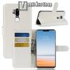 egyéb Notesz tok / flip tok - FEHÉR - asztali tartó funkciós, oldalra nyíló, rejtett mágneses záródás, bankkártyatartó zseb, szilikon belső - LG G7 ThinQ