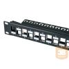 egyéb Üres FTP patch panel, 24 portos Cat6A modulhoz