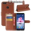 egyéb WALLET notesz tok / flip tok - BARNA - asztali tartó funkciós, oldalra nyíló, rejtett mágneses záródás, bankkártyatartó zseb, szilikon belsõ - HUAWEI P Smart / HUAWEI Enjoy 7S