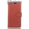 egyéb WALLET notesz tok / flip tok - BARNA - asztali tartó funkciós, oldalra nyíló, rejtett mágneses záródás, bankkártyatartó zseb, szilikon belsõ - SONY Xperia XA2