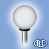 Elba Dekoratív közterületi lámpa GLOBOLUX 1x150W E27 d=500mm PMMA opál búra IP44 Elba