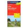Elba, Wendland, Nyugat-Prignitz kerékpáros térkép / Kompass