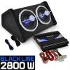 """Electronic-Star Auna """"Black Line 140"""" autó HiFi szett, erősítő, hangfalak, 2800 W"""
