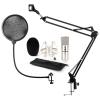 Electronic-Star auna CM001S Mikrofon-Set V4 Kondensatormikrofon Mikrofonarm POP-Schutz silber