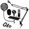 Electronic-Star auna CM003 mikrofon szett V kondenzátoros mikrofon, USB-konverter, mikrofontartó kar, fekete