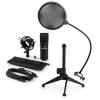 Electronic-Star auna MIC-900B V2, USB mikrofon készlet, kondenzátoros mikrofon + pop szűrő + asztali állvány