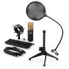 Electronic-Star auna MIC-900BG-LED V2, háromrészes USB mikrofon készlet, kondenzátoros mikrofon + pop szűrő + asztali állvány