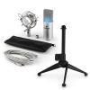 Electronic-Star auna MIC-900S-LED V1 USB mikrofon szett, ezüst kondenzátor mikrofon | asztali állvány
