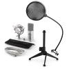 Electronic-Star auna MIC-900S V2, USB mikrofon készlet, kondenzátoros mikrofon + pop szűrő + asztali állvány