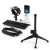 Electronic-Star auna MIC-900WH-LED V1 USB mikrofon szett, fehér kondenzátor mikrofon   asztali állvány