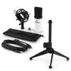 Electronic-Star auna MIC-900WH V1 USB mikrofon szett, fehér kondenzátor mikrofon | asztali állvány