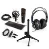 Electronic-Star auna MIC-920B USB mikrofon készlet V2 - fülhallgató, kondenzátoros mikrofon, mikrofon állvány, pop szűrő